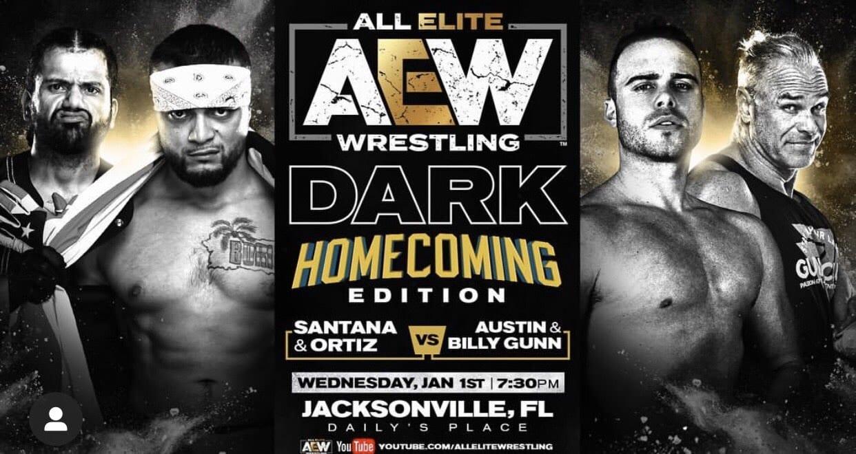 Billy Gunn Austin Gunn vs Santana Ortiz - AEW Dark
