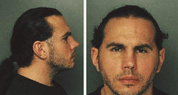 Matt Hardy Arrested Mugshot