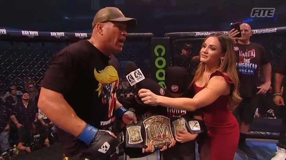 Tito Ortiz Wins Alberto Del Rio's WWE Championship title belt