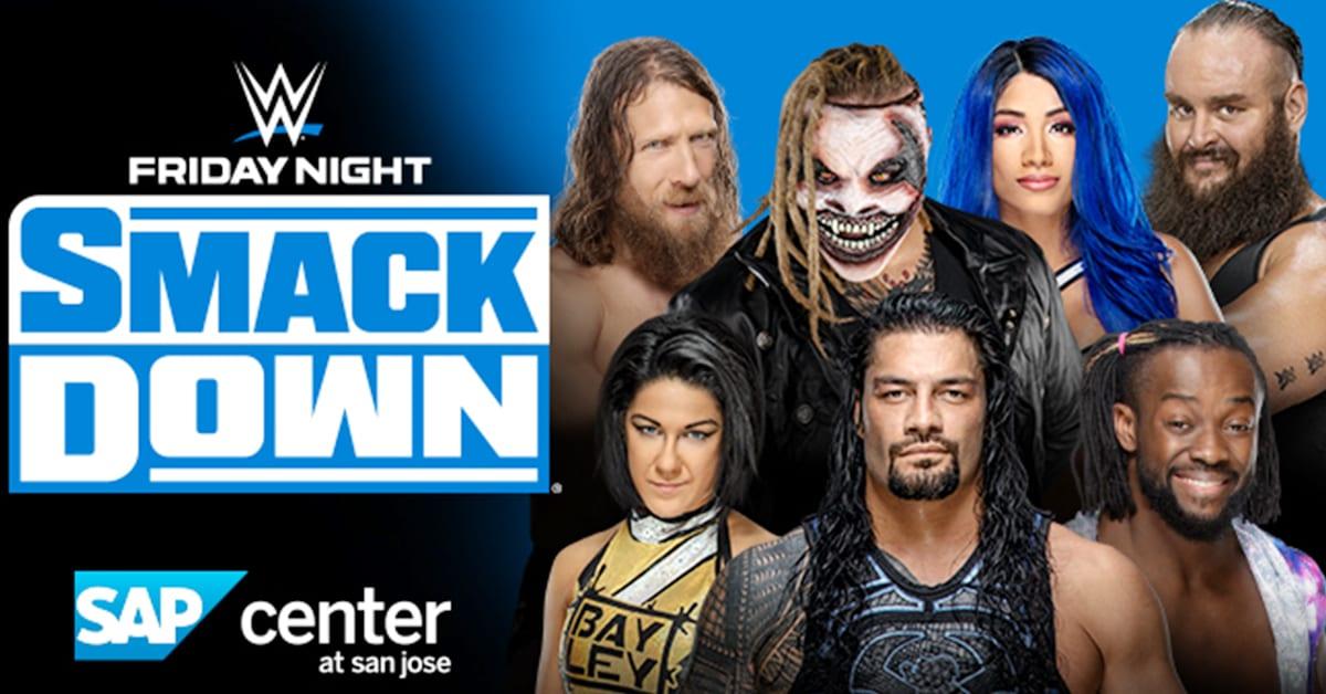 WWE Friday Night SmackDown Daniel Bryan The Fiend Bray Wyatt Sasha Banks Braun Strowman Bayley Roman Reigns Kofi Kingston