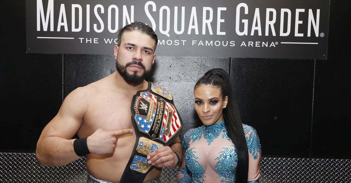 WWE United States Champion Andrade Zelina Vega Madison Square Garden