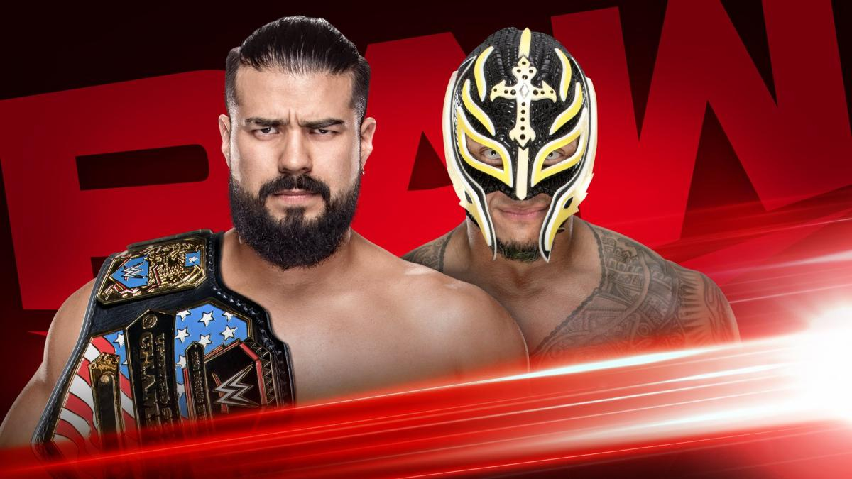 Andrade vs Rey Mysterio - United States Championship