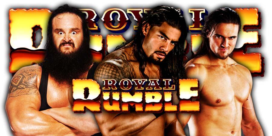 Braun Strowman Roman Reigns Drew McIntyre Royal Rumble 2020