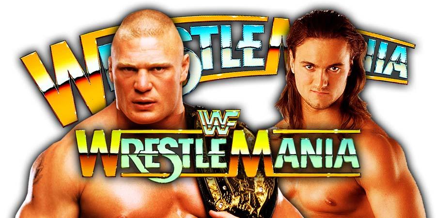 Brock Lesnar vs Drew McIntyre - WrestleMania 36