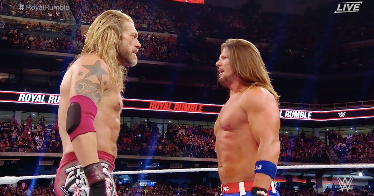 Edge AJ Styles WWE Royal Rumble 2020