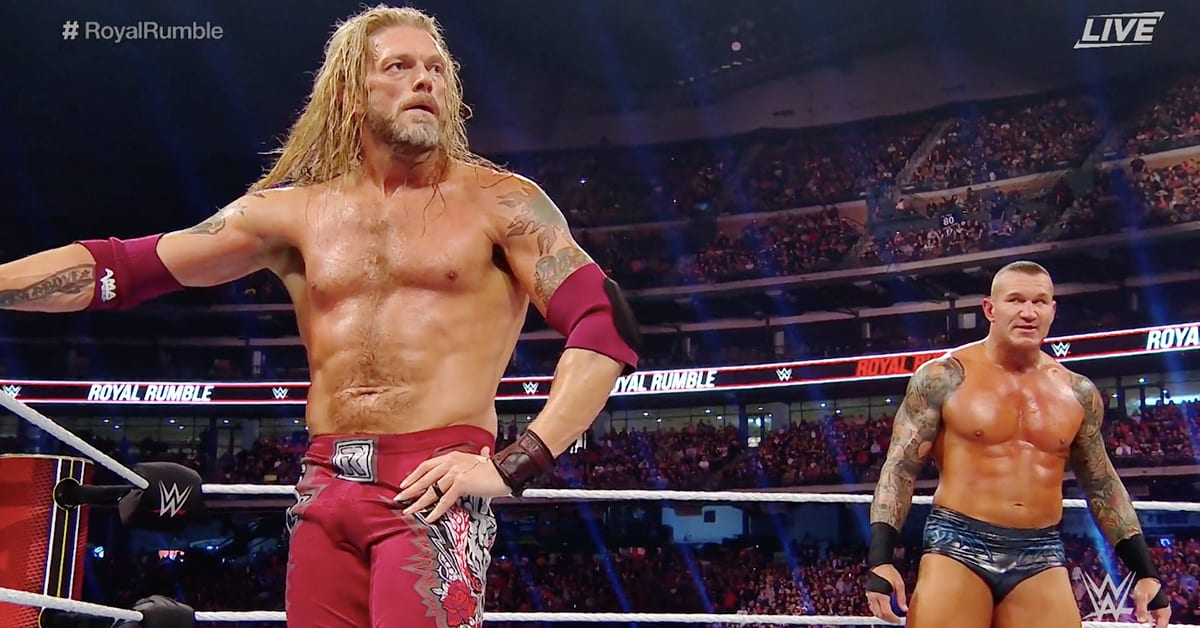 Edge Eliminates Randy Orton From The Royal Rumble 2020 Match