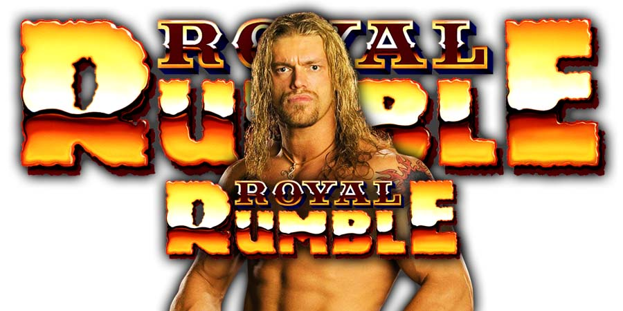 Edge Royal Rumble 2020 WWE Return