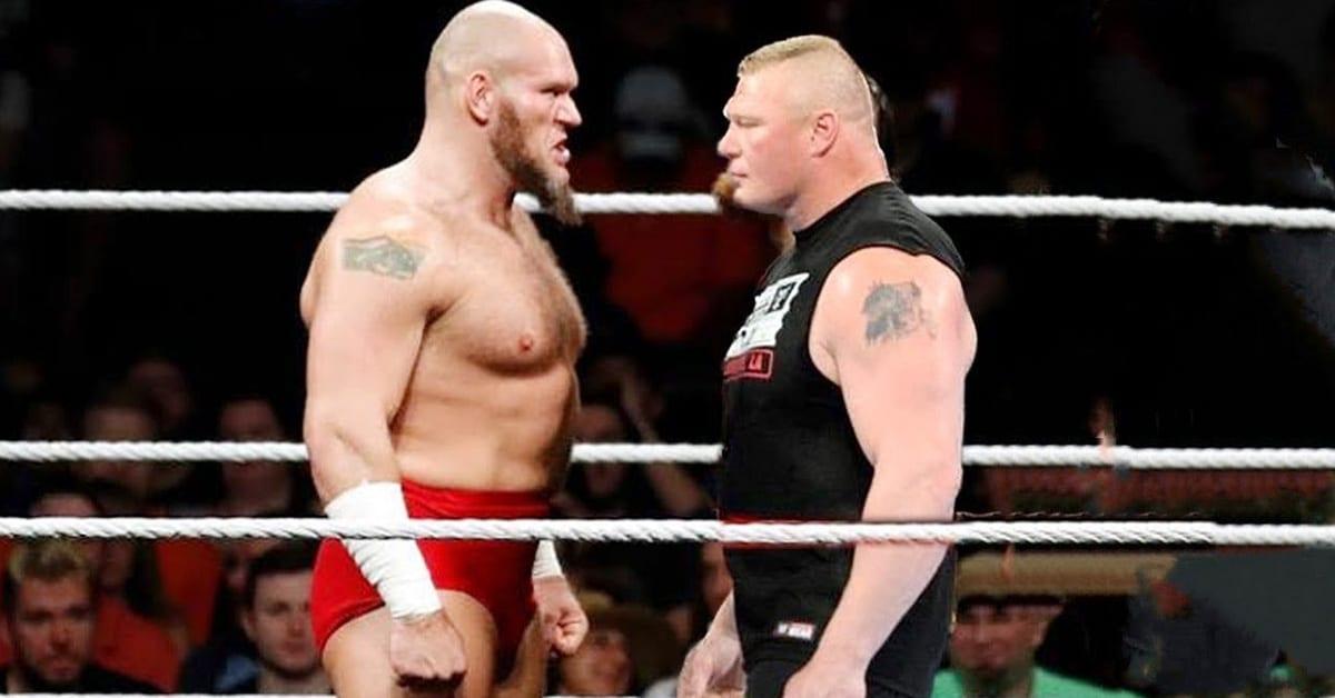 Lars Sullivan vs Brock Lesnar Face To Face
