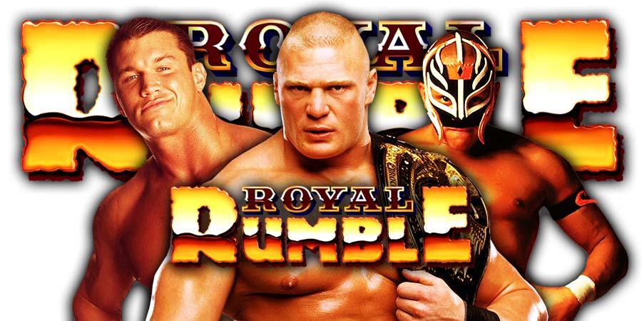 Randy Orton Brock Lesnar Rey Mysterio Royal Rumble 2020