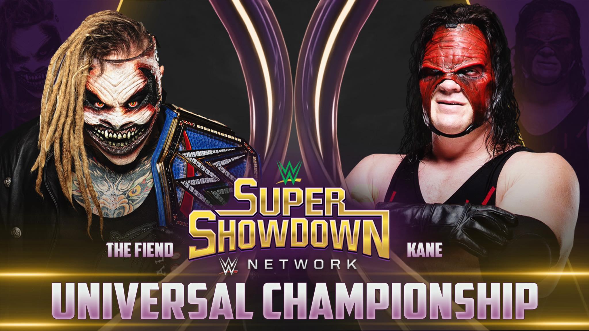The Fiend vs Kane - Universal Championship Match (WWE Super ShowDown 2020)