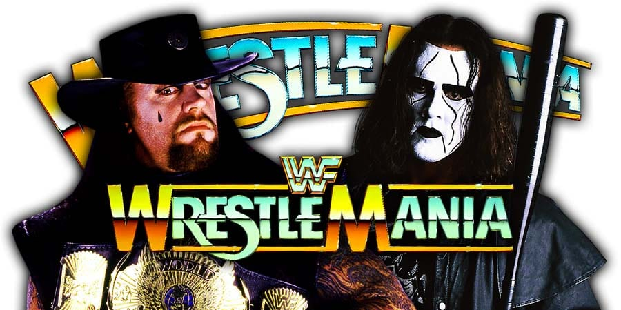 The Undertaker Sting WrestleMania Match