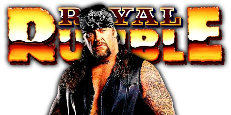 The Undertaker WWE Royal Rumble 2020