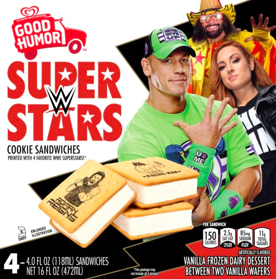 WWE Ice Cream Sandwich 2020 John Cena Randy Savage Becky Lynch