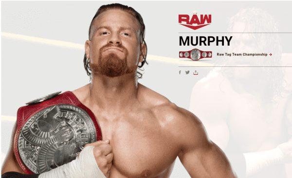 Buddy Murphy's name changed to Murphy February 2020