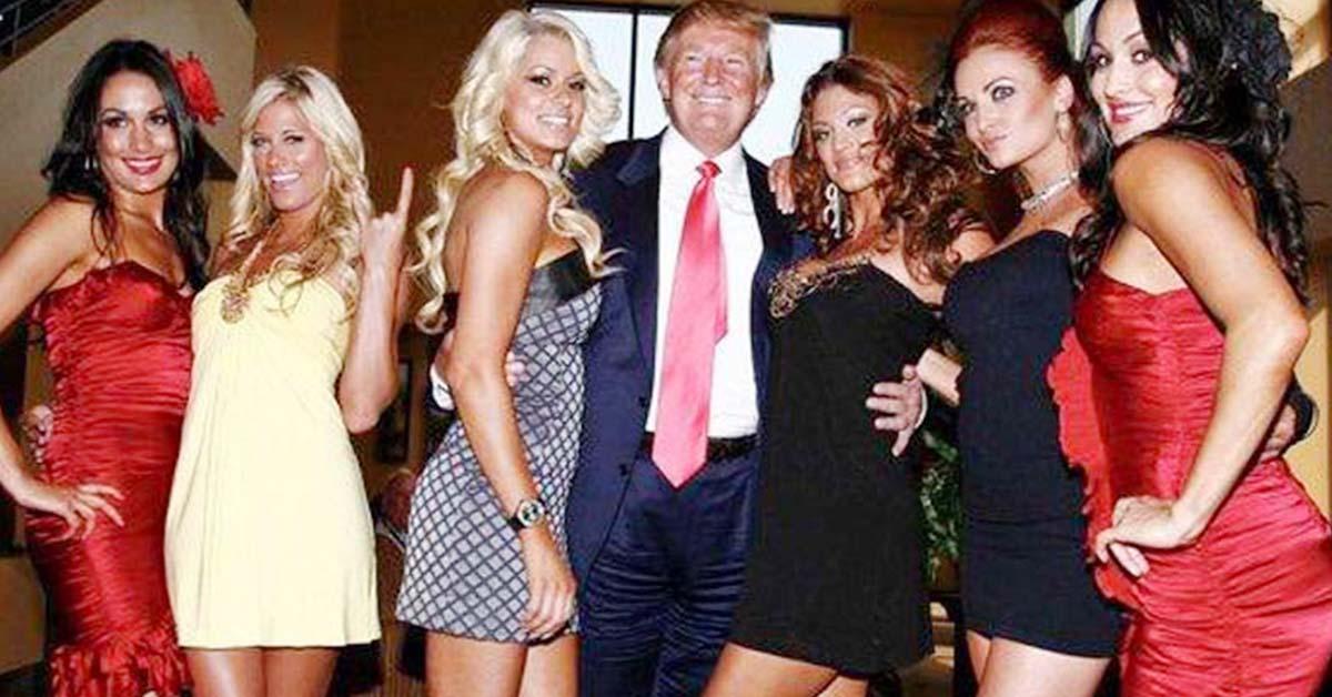 Donald Trump Grabbing WWE Divas Eve Torres Maryse