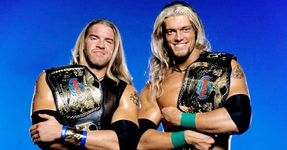 Edge and Christian WWF World Tag Team Champions
