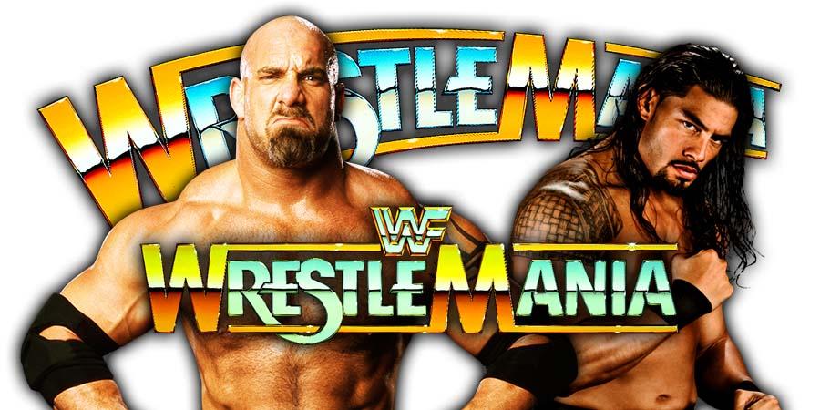 Goldberg vs Roman Reigns - WrestleMania 36 Universal Championship Match