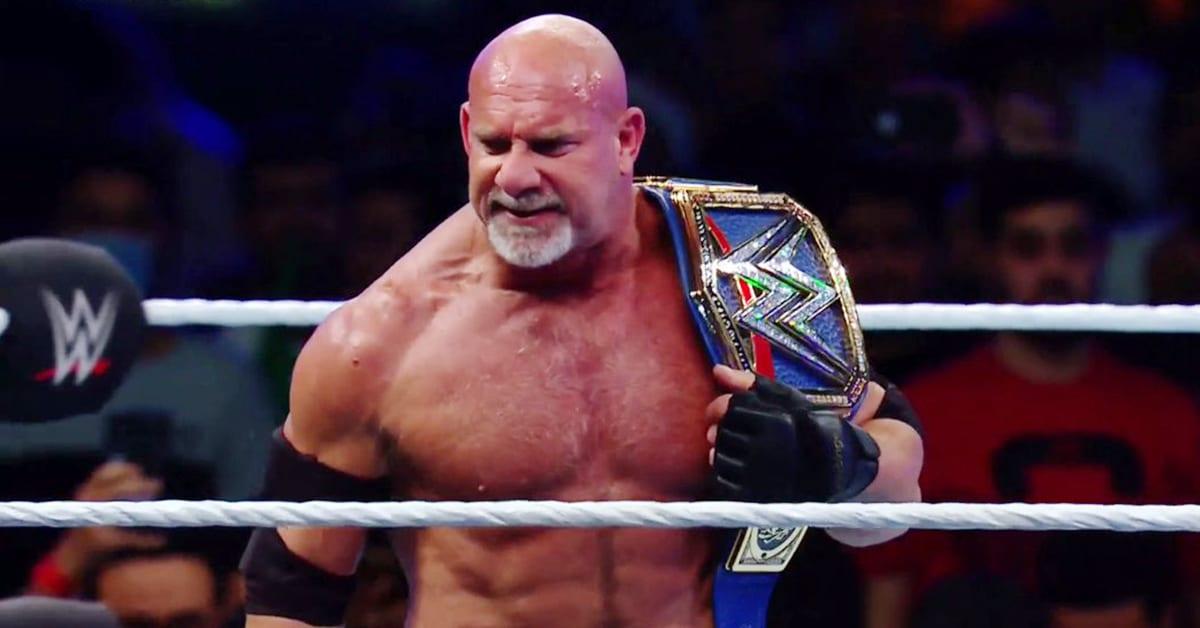 Goldberg wins the Universal Championship at WWE Super ShowDown 2020