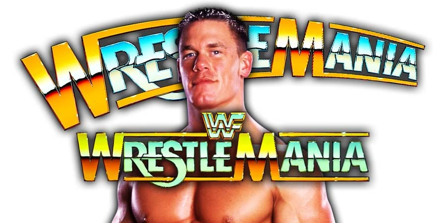 John Cena WrestleMania 36 Role