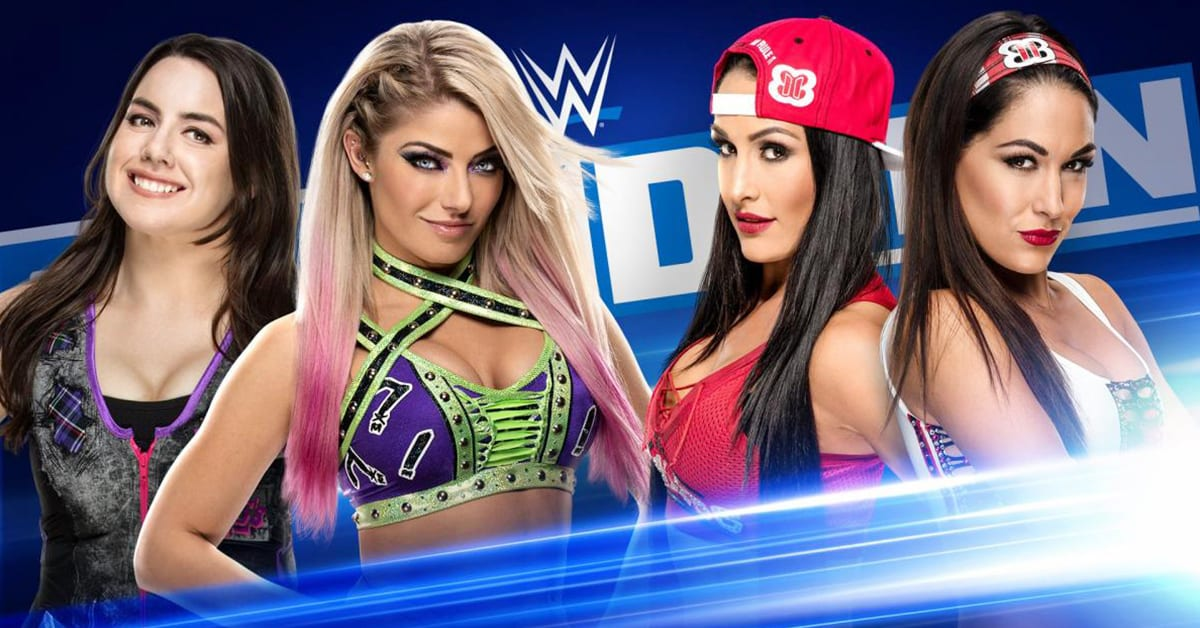 Nikki Cross Alexa Bliss Nikki Bella Brie Bella Bella Twins Moment Of Bliss WWE SmackDown February 2020