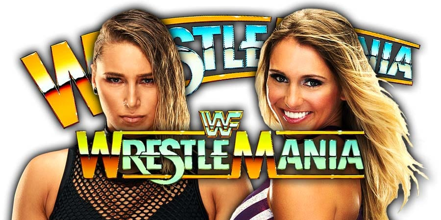 Rhea Ripley vs Charlotte Flair - WrestleMania 36