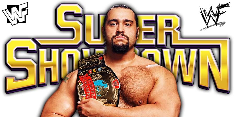 Rusev Not Working WWE Super ShowDown 2020
