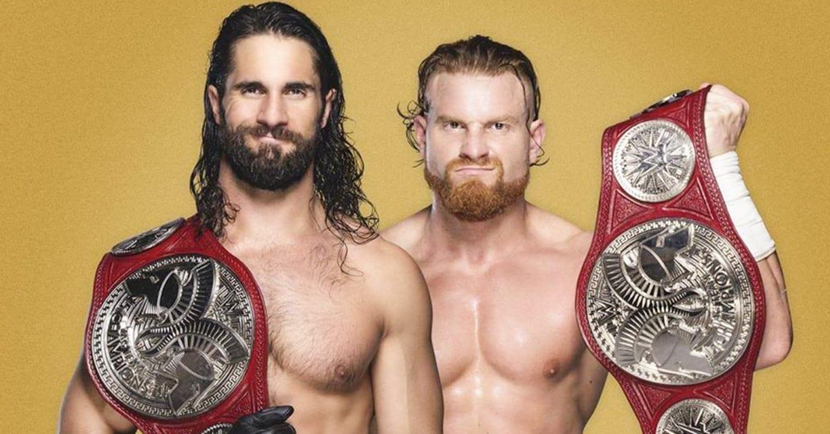 Seth Rollins Buddy Murphy WWE RAW Tag Team Champions