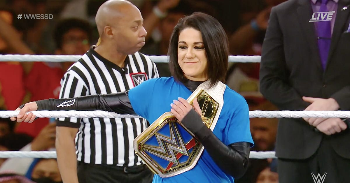 SmackDown Women's Champion Bayley WWE Super ShowDown 2020 Saudi Arabia Outfit