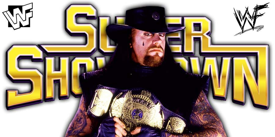 The Undertaker Returns At WWE Super ShowDown 2020