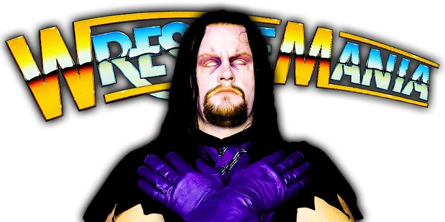 The Undertaker WrestleMania 36 Return