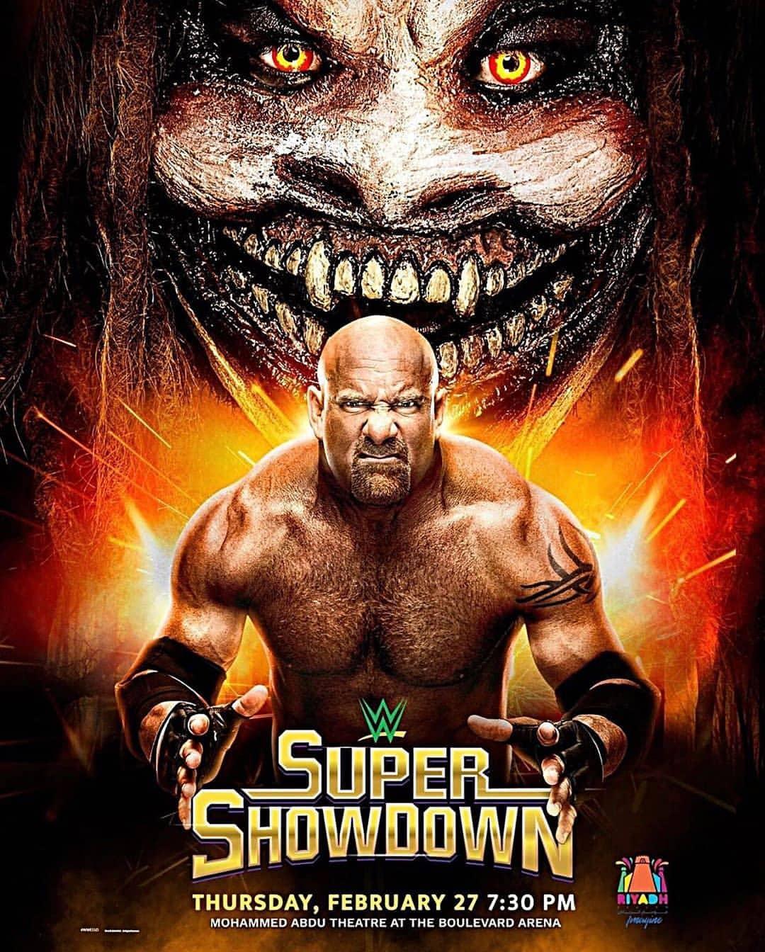 WWE Super ShowDown 2020 Official Poster - Goldberg vs The Fiend Bray Wyatt