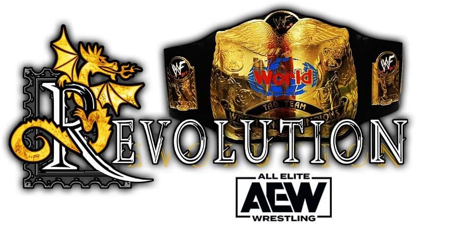 AEW World Tag Team Championship Match AEW Revolution