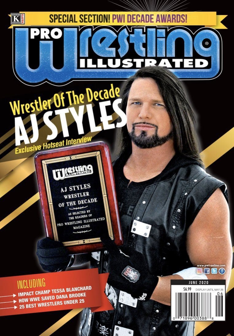 AJ Styles PWI Wrestler Of The Decade