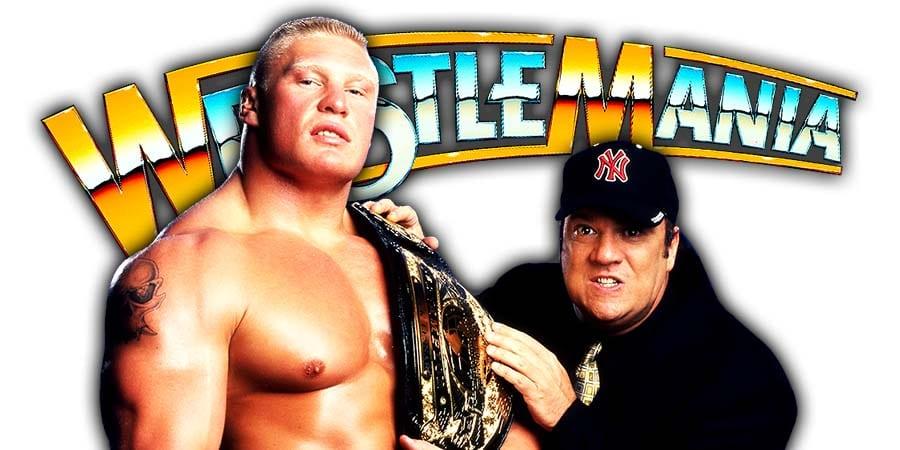 Brock Lesnar Paul Heyman WrestleMania 36