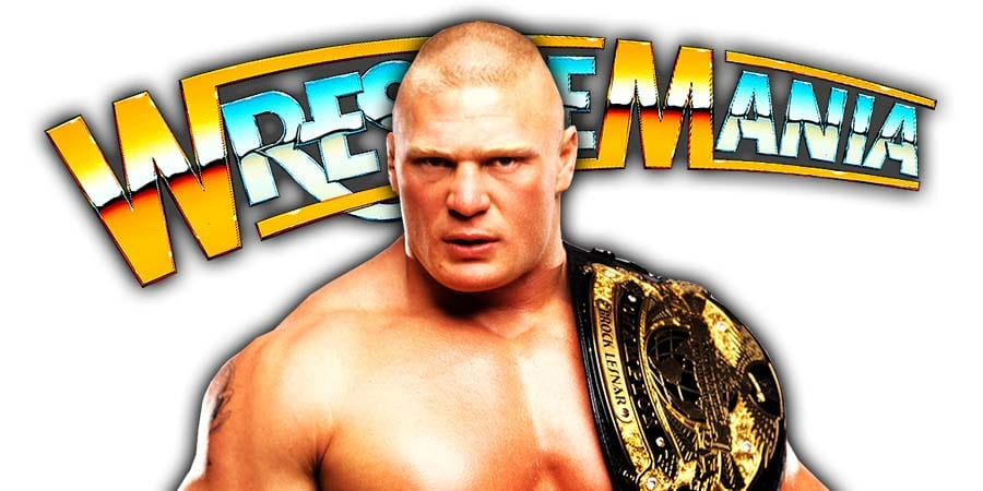 Brock Lesnar WreslteMania 36 WWE Champion