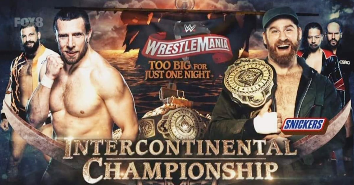 Daniel Bryan vs Sami Zayn - Intercontinental Championship Match (Official WrestleMania 36 Graphic)