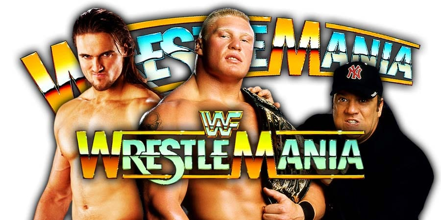 Drew McIntyre Brock Lesnar Paul Heyman WrestleMania 36 Match