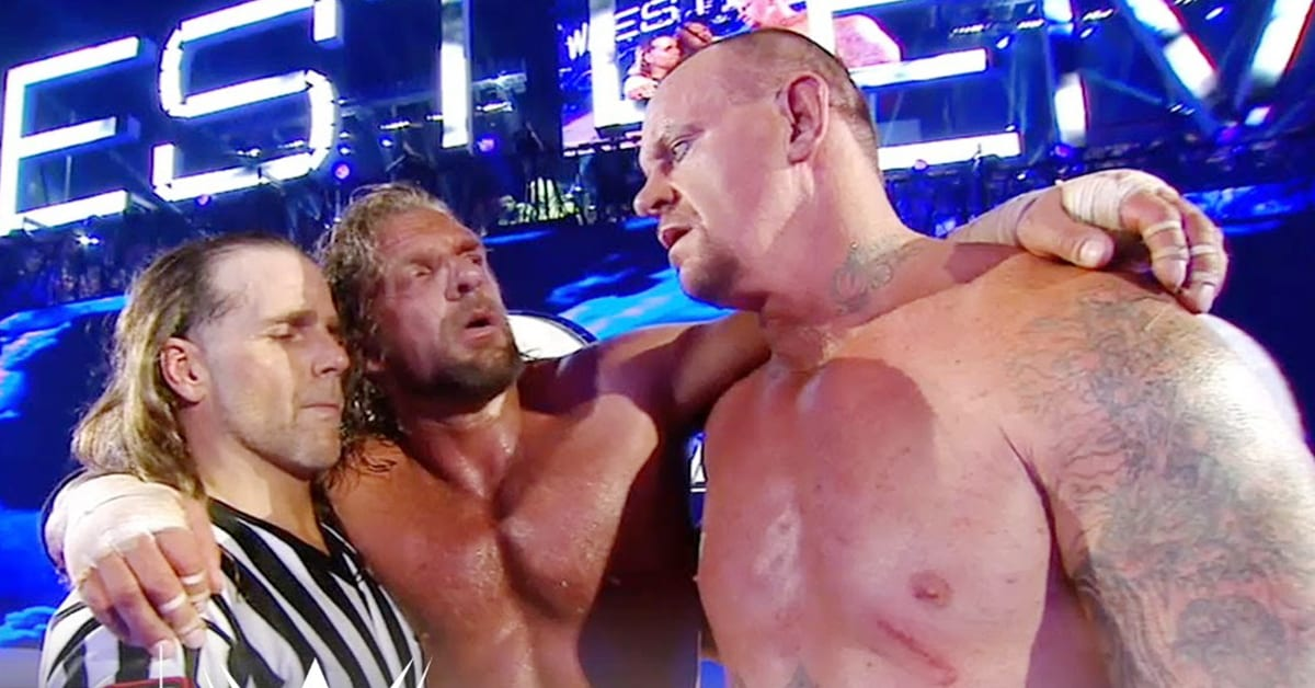 Shawn Michaels Triple H The Undertaker WrestleMania 28 Stage