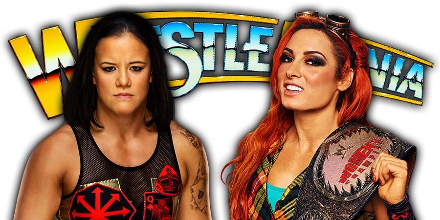 Shayna Baszler vs Becky Lynch - WWE WrestleMania 36