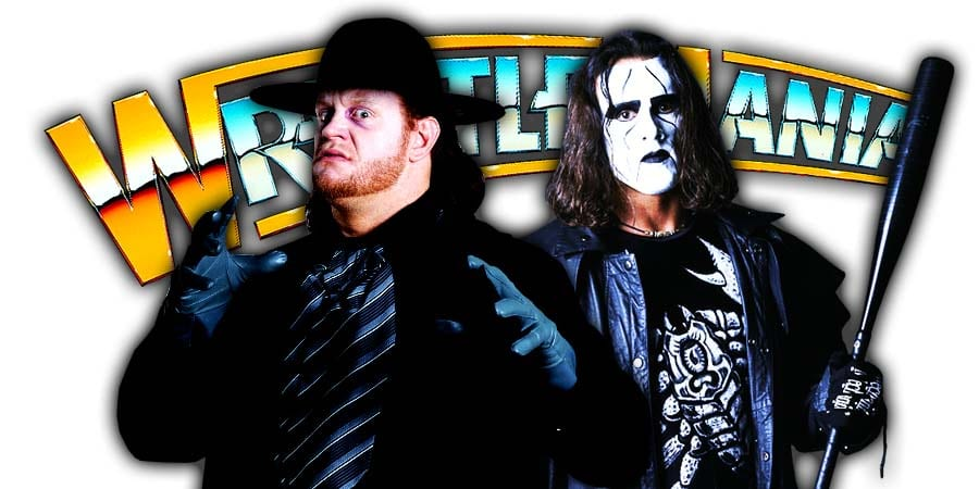 Undertaker Sting WrestleMania Match Rumors