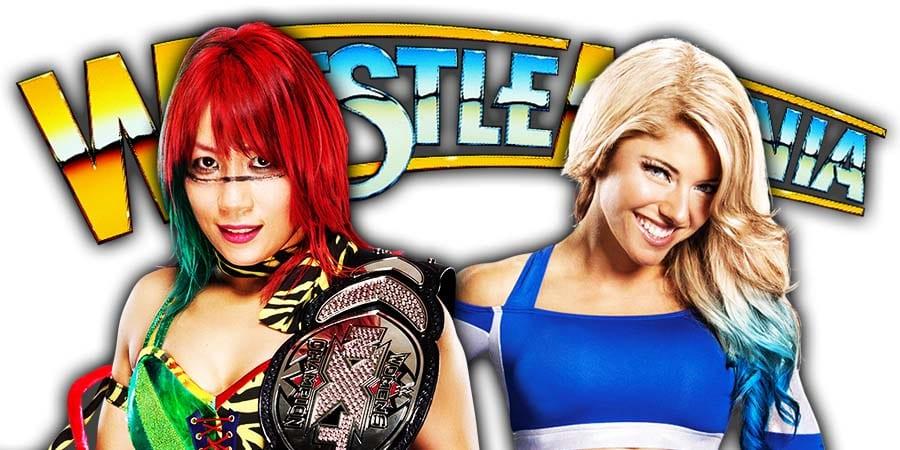 Alexa Bliss Nikki Cross Beat Asuka Kairi Sane WrestleMania 36