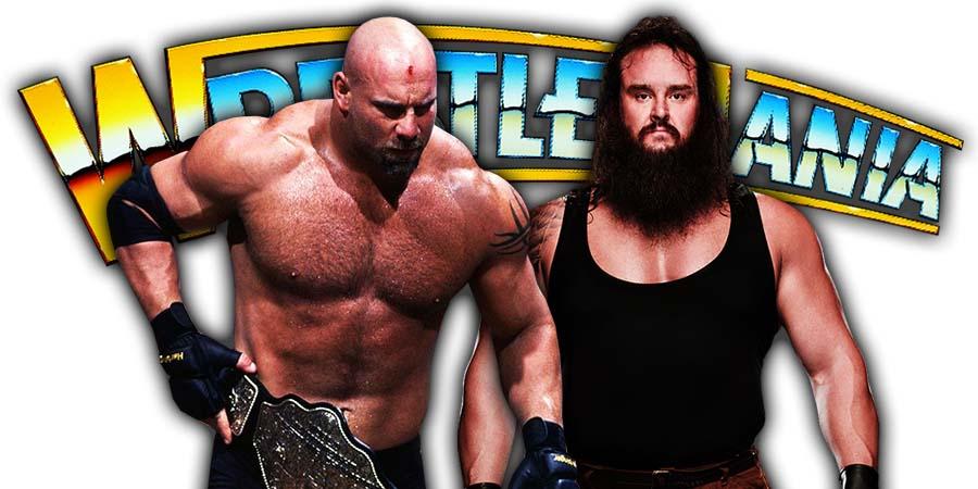 Braun Strowman Beats Goldberg On Night 1 Of WrestleMania 36 To Win Universal Championship