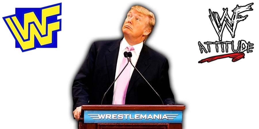 Donald Trump WrestleMania Article Pic WWE