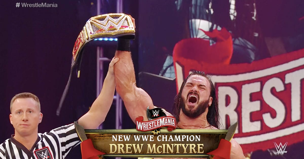 Drew McIntyre Wins WWE Championship At WrestleMania 36