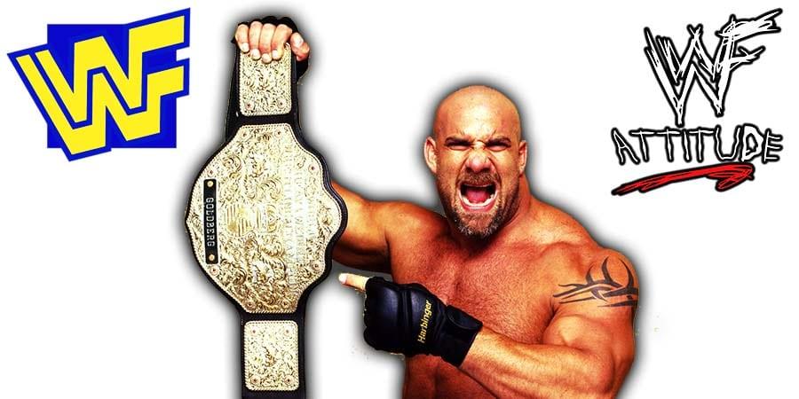 Goldberg World Heavyweight Champion WWE WCW