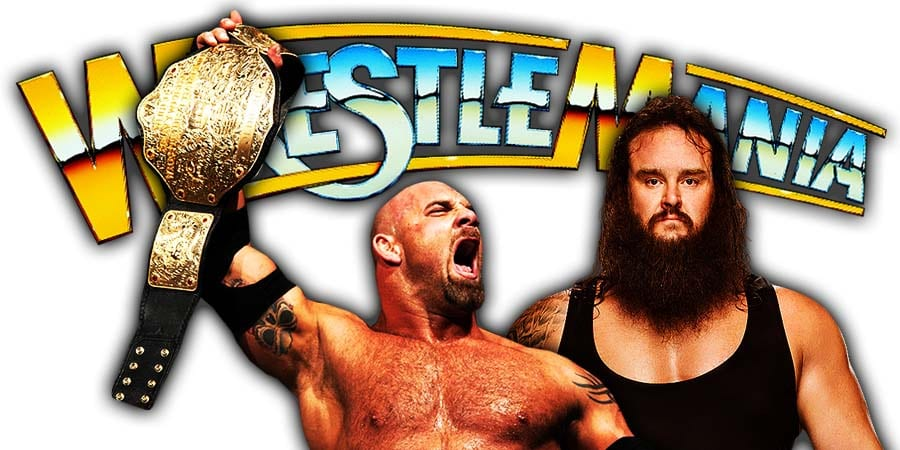 Goldberg vs Braun Strowman - Night 1 WrestleMania 36