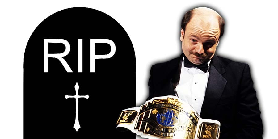 Howard Finkel The Fink Death RIP Photo Intercontinental Championship