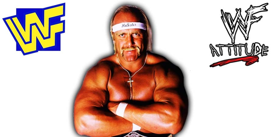 Hulk Hogan Jacked Muscular Physique Arms Folded WWF