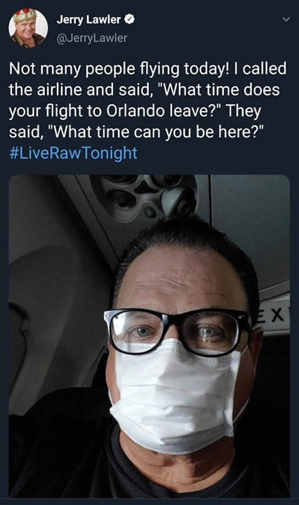 Jerry Lawler Flying To Orlando For WWE RAW April 2020 COVID-19
