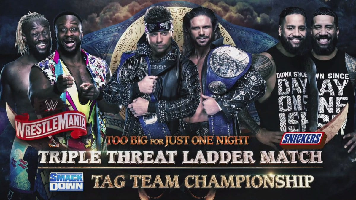 John Morrison & The Miz vs The Usos vs The New Day - WrestleMania 36 Ladder Match